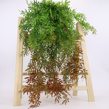 Artificial Plant 5 Fork Hanging Vine Willow Leaves Home Garden Wedding Decoration durable High quality