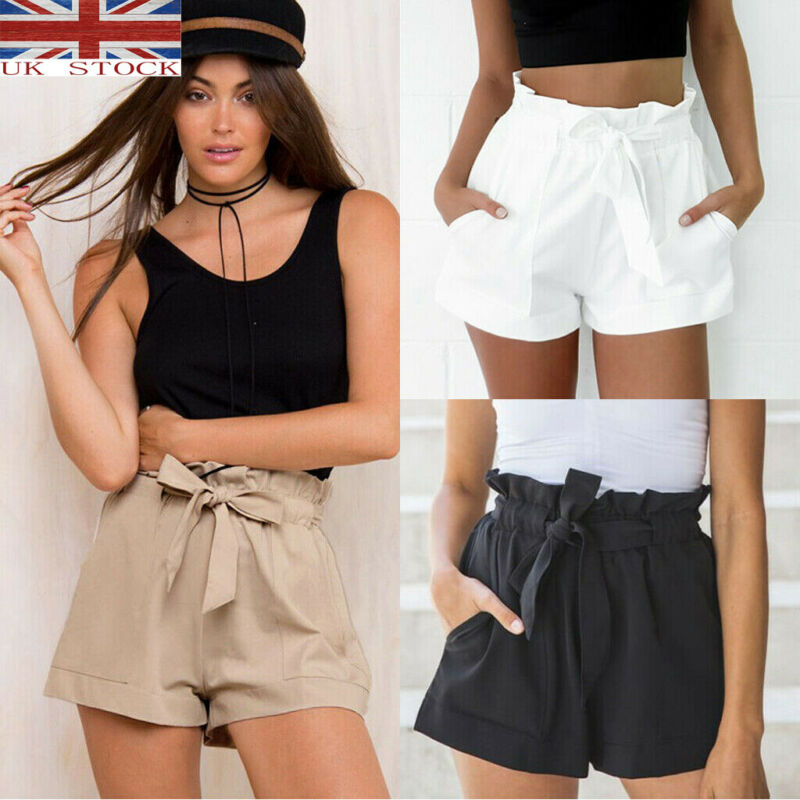2020 New Fashion Women Summer Lace Up Casual Shorts