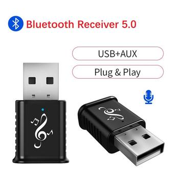 Mini 3.5mm USB Bluetooth Adapter Dongle For Computer PC Mouse Keyboard Aux Bluetooth 5.0 Speaker Music Receiver For Car image