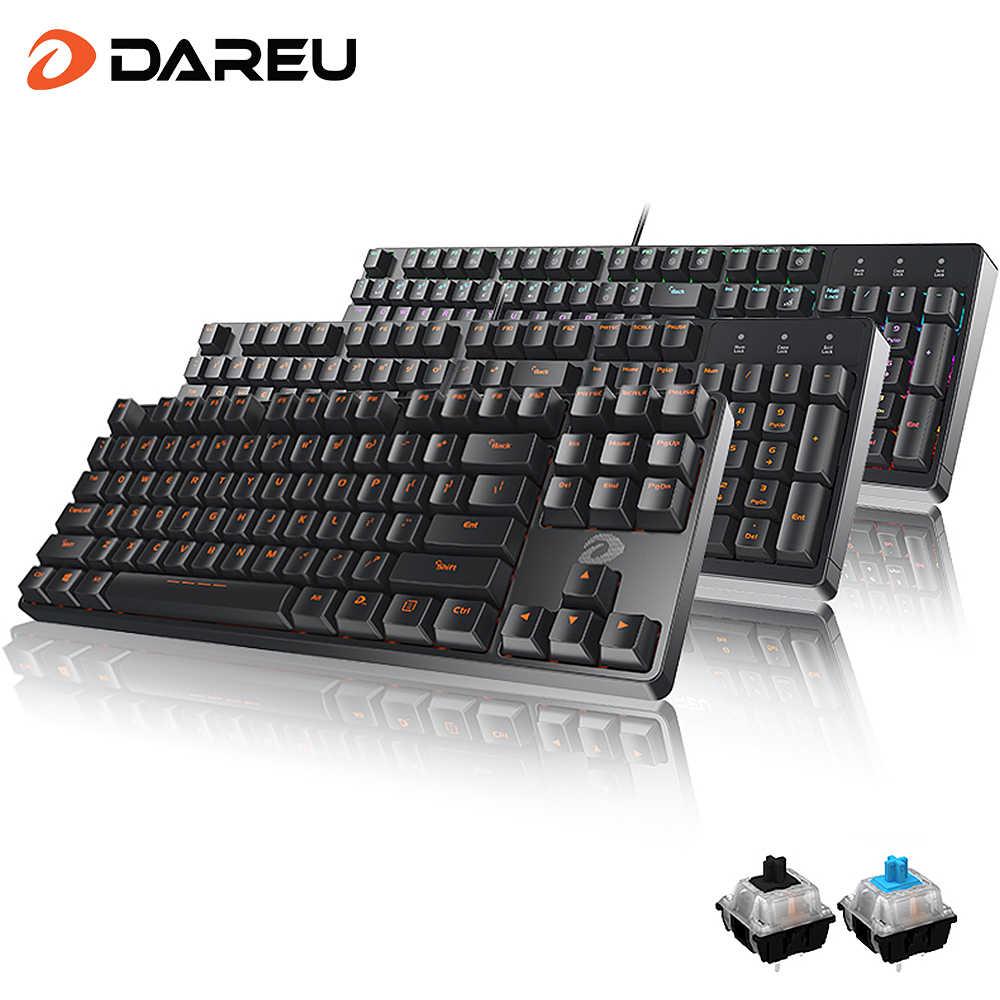 DAREU DK100 Mechanical Keyboards 87/104 keys Blue/Black Switch ...