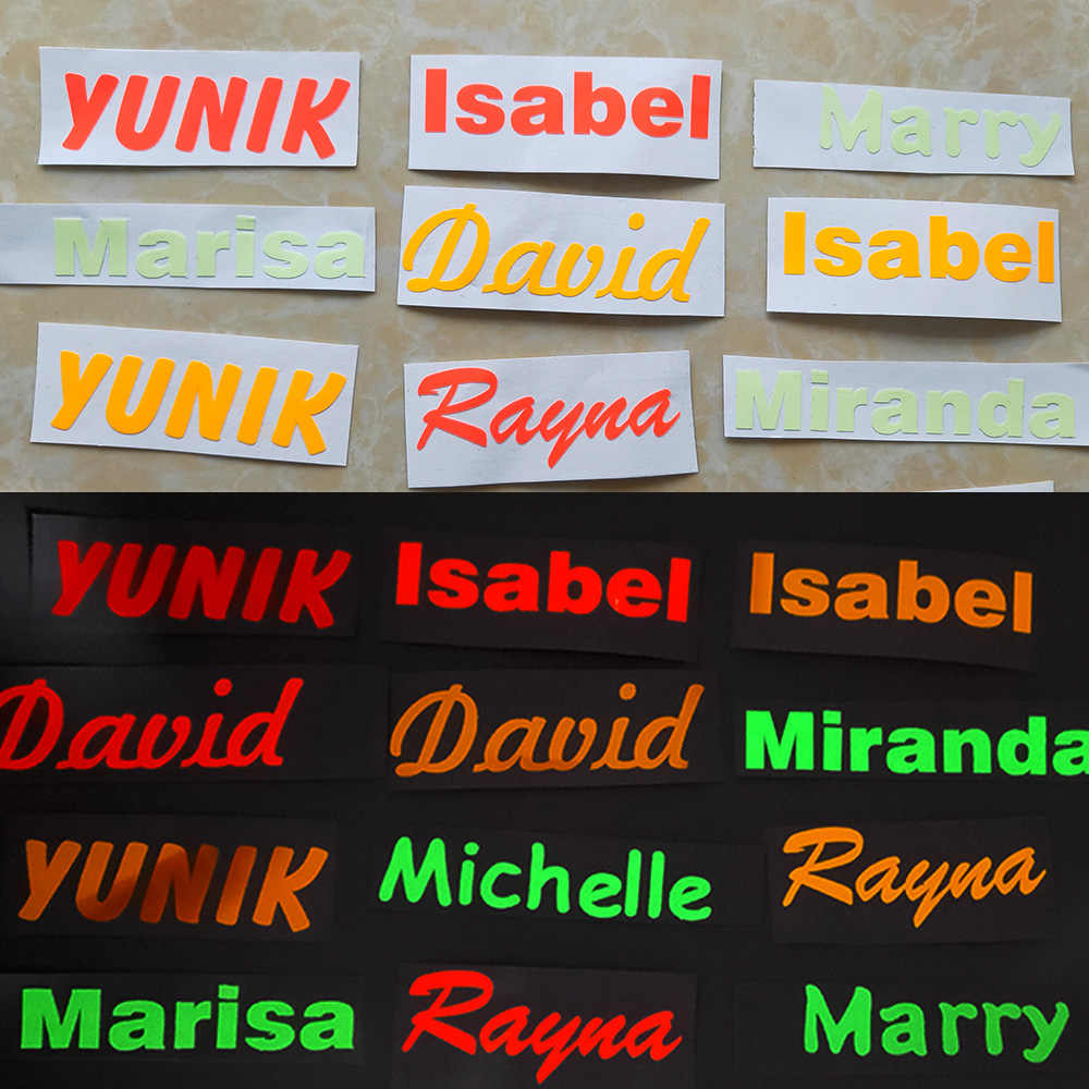 1PCS 방수 빛나는 이름 스티커 사용자 지정 레이블 스티커 장식 Lable 일상 용품에 사용 학교 용품