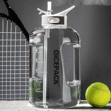 1500ml 2500ml al aire libre paja de botella de agua de deportes botellas de beber senderismo Camping botella de plástico tritan BPA libre