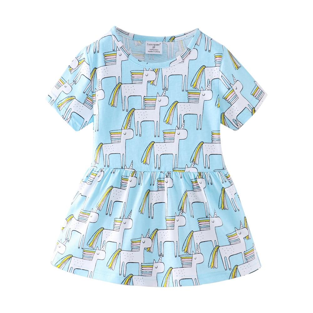 Bébé filles uniocorn robe coton robes de princesse pour enfant en bas âge fille vêtements Mini enfants vêtements enfants Vestido fête enfants