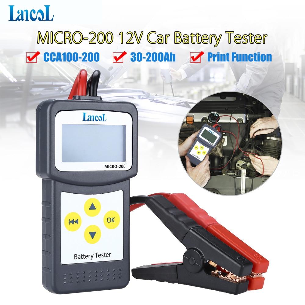 LANCOL MICRO200 12V Digital Car Battery Tester Automotivo Digital Checker Automotive Battery Load Tester Multi-language