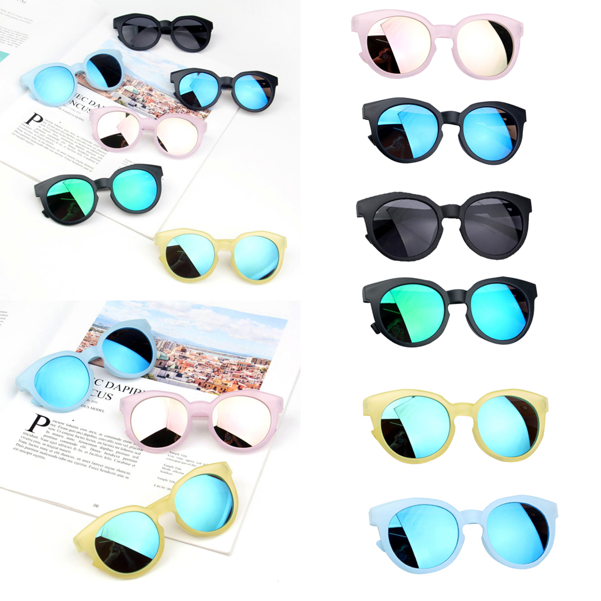Children's Boys Girls Kids Sunglasses Shades Bright Lenses UV400 Protection