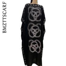 2020 yeni afrika elmas % 100% pamuklu şifon uzun Dashiki elbise eşarp Lady için afrika giysi 060 #
