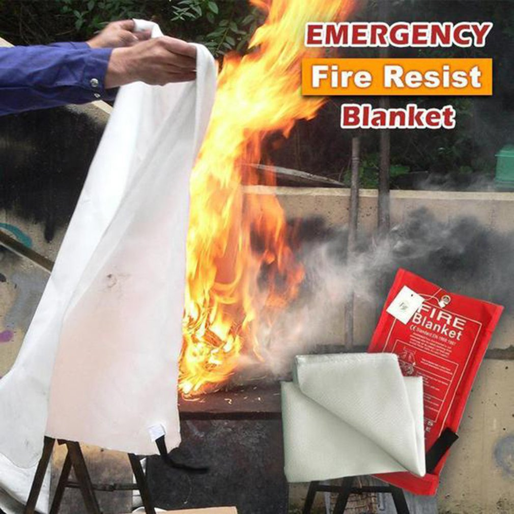 1.2M X 1.2M Sealed Fire Blanket Home Safety Fighting Fire Extinguishers Tent Boat Emergency Survival Fire Shelter Safety Cover