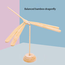 Balance bamboo dragonfly handmade wooden floating gravity creative toys for children make every child a scientist