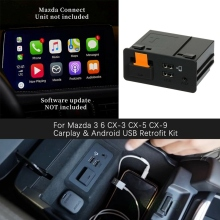 Pour Mazda 3 6 CX-5 CX-3 Apple Carplay et Android Kit de modification automatique USB Port d'interface Aux Console TK78-66-9U0C 00008FZ34
