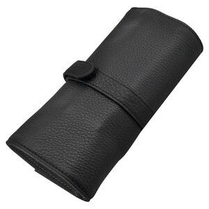Image 1 - Wancherของแท้กระเป๋าหนัง 5 ปากกากระเป๋าดินสอม้วนของขวัญกล่องป้องกันสีดำปากกา