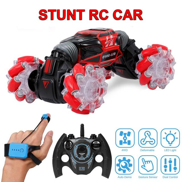2020 New 1 16 Remote Control Stunt RC Car Gesture Induction Twisting 4WD Off Road Vehicle