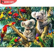 HUACAN plein carré diamant peinture Koala Animal décoration de la maison ronde broderie photo artisanat mosaïque Art Kit