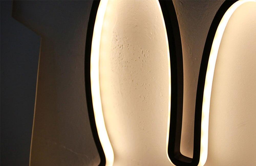 Coelho led night light bonito lâmpada de