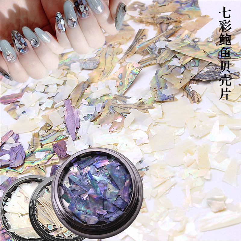 Natural Abalone Colorful Shell Large Manicure Japanese-style DIY Jewelry Phototherapy Nail Sticker Irregular Symphony Debris