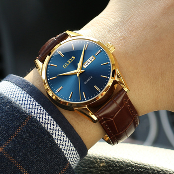 Brown Leather Blue