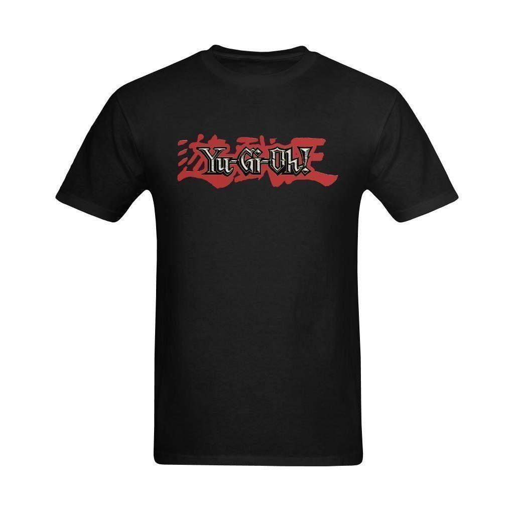 Красный фон Yu Gi Oh Печатный графический дизайн забавная личность футболка черная
