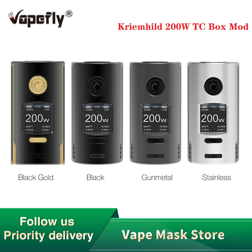 Pre-order Original Vapefly Kriemhild 200W TC Box Mod With 1.33 Inch TFT Screen Fit 18650/20700/21700 Battery Box Vape VS Gen Mod