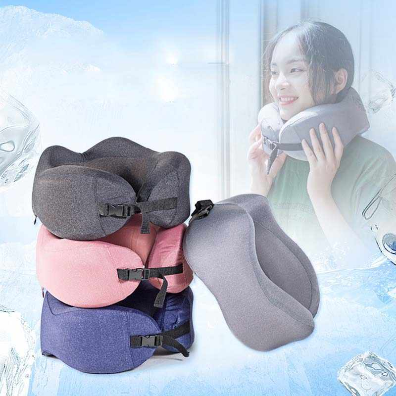 Almohadón de espuma de memoria para dormir profundo cuello almohada ortopédica para coche