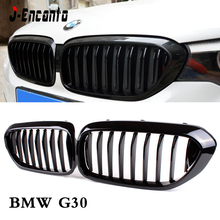 For BMW 5 Series G30 G38 Car Front Grill Glossy black/Three color Style 2018-2019  Kidney Grille