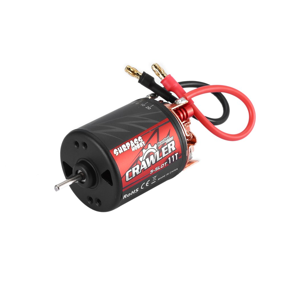 SURPASSHOBBY 5-Slot 540 11T/13T/16T/20T Brushed Motor Speed Controller 60A/320A ESC Combo Set For 1/10 RC Crawler Brushed Car