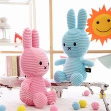 30CM Cartoon Rabbit Plush Toy Filled Animal Striped Bunny Doll Child Girl Birthday Christmas Gift Easter snow bunny s christmas gift