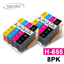 Topcolor 8PK 655XL Ink Cartridge Replace HP 655 HP-655 H655 XL for HP Deskjet 3525 4615 4625 5525 6520 6525 Injection Printer for hp 15 78 ink cartridge for hp deskjet 845c 920c 810c 812c 816c 817c 825c 840c 3920 printer ink for hp15 c6615a c6578a
