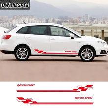Pour-Seat – autocollant en vinyle pour jupe latérale de porte de voiture de course TGI ST Cupra, carrosserie automobile, accessoires extérieurs