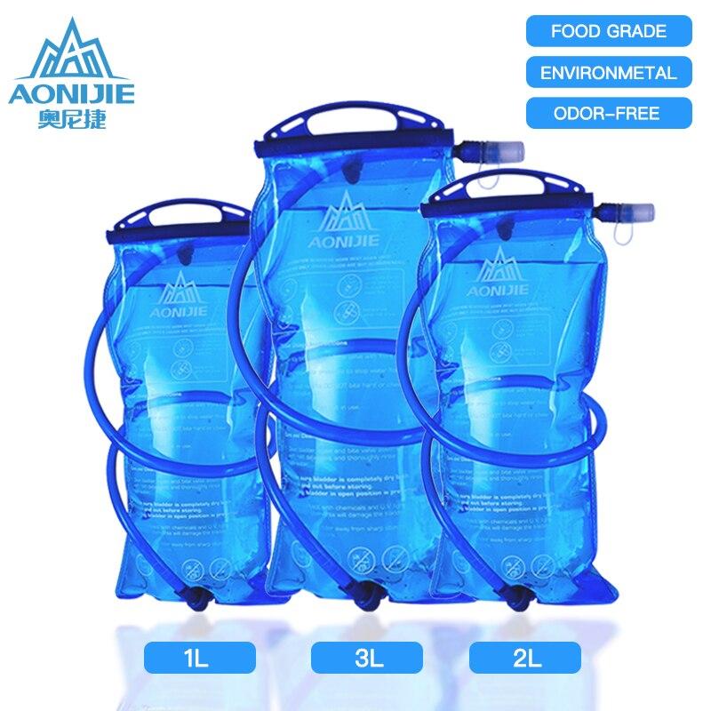 Aonijie reservatório de água bexiga hidratação pacote de armazenamento saco bpa livre 1l 1.5l 2l 3l correndo hidratação água mochila sd12
