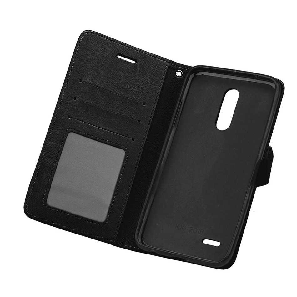 محفظة جلدية حقيبة لجهاز LG Q60 K8 K9 K11 K10 2018 G4 ستايلس LS770 G3 X الطاقة 2 LS755 LS777 Q6 G8 G7 K40 الإبرة 4 غطاء الوجه كابا