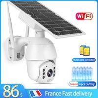 Cámara de videovigilancia para exteriores, videocámara de seguridad PTZ Solar, 1080P, WIFI, inteligente, para el hogar, 8W, energía Solar
