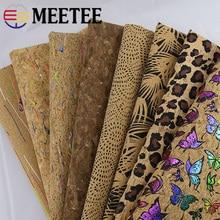Meetee 90X138cm Natural Cork Imitation Leather Fabric Printed PU Bag Fabric DIY Luggage Home Shoes Gift Accessories SL006 стоимость