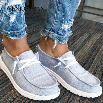 Flats Shoes For Women Casual Shoes Lace Up Lofers Ladies Summer Women Slip On Sneakers Mocassin Femme Zapatos De Mujer 2020