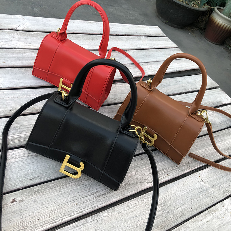 Letter B Top Handle Shoulder Bag For Women 2020 Stylish Crossbody Bags Designer Handbags Ladies Pures Female Messenger Bag Black