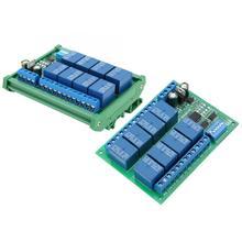 цена 12V 8-Channel RS485 Relay PLC Expansion Board for Modbus RTU Protocol Remote Control онлайн в 2017 году