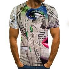 Nueva camiseta 3D para hombre, casual, de manga corta, con imagen de Halloween, disfraz súper cómodo de talla grande 2021