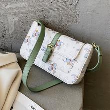 NEW French Design Fashion Cartoon Printed Armpit Bag & Elegant Handbag Shoulder Bag Width 24cm Height 13cm Thickness 4cm