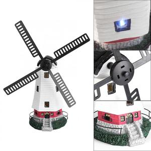 Image 5 - שמש מופעל מגדלור מסתובב גן אור בית קישוט קישוט שמש LED טחנת רוח אור מערכת