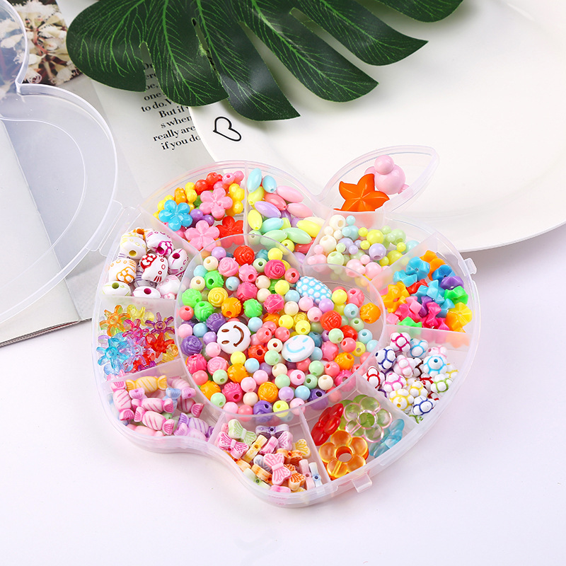 Children Beaded Bracelet Girls Hot Selling Accessories Toy Weak Sight Training Bead Bead-stringing Toy