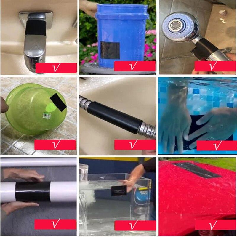 H06ff92762a8945ec92d32772bb7470f0D - 1pc Tape Stop Leaks Super Strong Fiber Waterproof Seal Repair Tape Performance Self Fix Tape Adhesive Duct Tape