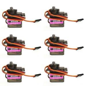 Image 1 - Electrónica Inteligente Servo Digital de engranaje de Metal para vehículo de control remoto, 6 unidades/lote, Torre Pro MG90S, 9g, SG90