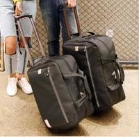 Männer Reisen Gepäck Tasche frauen Oxford Koffer Reise Roll Taschen Auf Rädern Reise Roll Taschen Business Trolley Rädern Taschen