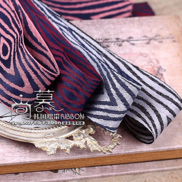 100yards 25mm 40mm jacquard tree texture style ribbon for garment accessories hair bow diy handcraft supplies