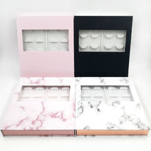 Caixa de empacotamento personalizada dos cílios do vison do falso embalagem caso vazio caixa de empacotamento da pestana feita sob encomenda de 10 pares com bandeja do chicote