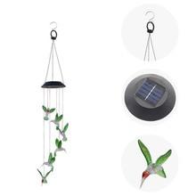 폭발 모델 태양 바람 차임 조명 hummingbird 태양 선물 조명 색상 led 야외 정원 발코니 침실 매달려 빛
