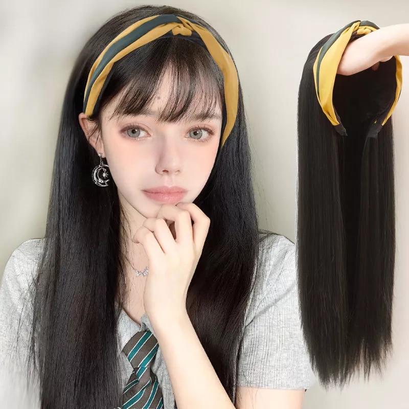 AILIADE длинные прямые цельные волнистые полуволосы U парик синтетические ленты для волос с наращиванием волос натуральные волосы для женщин