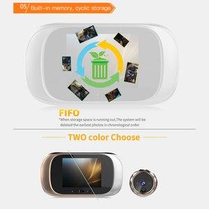 Image 5 - 2.8 inch LCD Color Screen Digital Doorbell 90 Degree Door Eye Doorbell Electronic Peephole Door Camera Viewer Outdoor Door Bell
