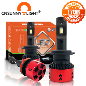 Image 1 - CNSUNNYLIGHT Hohe LPW Mini Typ LED Auto Scheinwerfer Lampen H4 H7 H11/H8 H1 9005 9006 880 H3 60 w/set 5500K Auto Scheinwerfer Nebel Licht