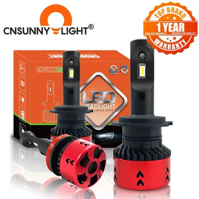 CNSUNNYLIGHT Hohe LPW Mini Typ LED Auto Scheinwerfer Lampen H4 H7 H11/H8 H1 9005 9006 880 H3 60 w/set 5500K Auto Scheinwerfer Nebel Licht