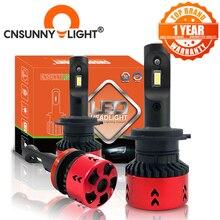 CNSUNNYLIGHT yüksek LPW Mini tip LED araba kafa lambası ampulleri H4 H7 H11/H8 H1 9005 9006 880 H3 60 W/set 5500K otomatik far sis lambası