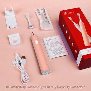 Image 5 - Y kelin חשמלי מברשת שיניים עם 2 ראשי מברשת סוניק נטענת למבוגרים פלטה חשמלי אורתודונטי מברשת שיניים